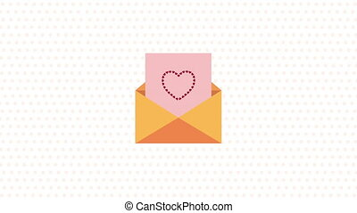 valentines day animated card with love envelope