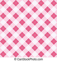 Valentines day Argyle. Pattern Scottish cage