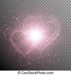 Valentines day background - Brilliant background with bright...