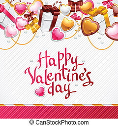 Valentine's Day background. Gift card and flyer.