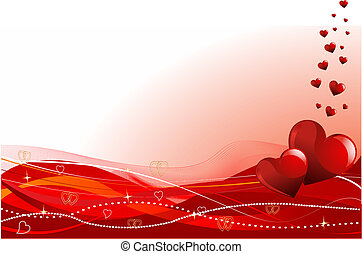 Grange vector Valentine%u2019s Day horizontal background with hearts