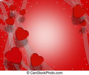 Valentines Day Background Hearts