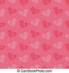 Valentine's Day background illustration with hearts