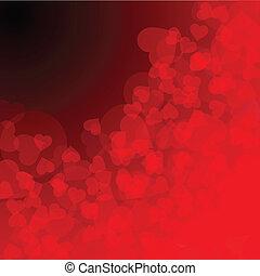 Valentine's day background (vector illustration)