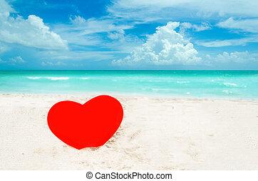 Valentine's day background on the Miami beach