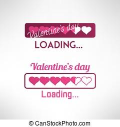 Valentine's day background. Progress bar. Vector - Valentine...