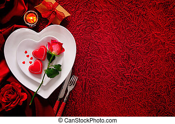 Valentines Day Romantic Dinner Background Valentines Day Cutlery