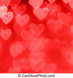 Valentine's Day background - St. Valentine 's Day red bokeh...