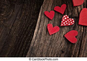 Valentine's day background - Valentines Vintage handmade...