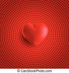 valentines day background with 3d heart 1812