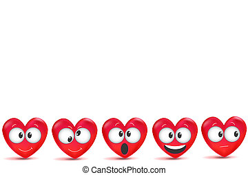 Valentine's day background with 3d red hearts with. Seamless pattern Happy Valentine's Day