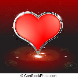 Valentine's day background with abstract heart