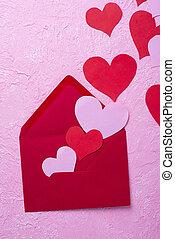 Valentines Day background with envelop