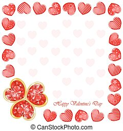 Valentine's day background with funny hearts