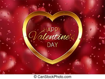 valentines day background with gold heart 1412