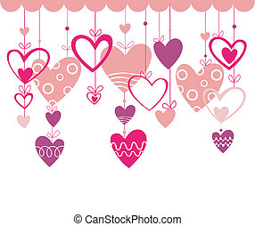 Valentines day background with hear - Valentines day vector...