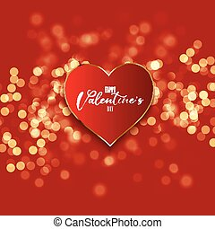 valentines day background with heart on bokeh lights design 1812