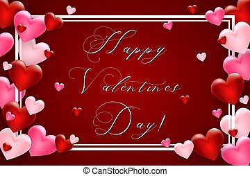 Valentines Day background with heart. Template for your Valentine's Day design. Vector.