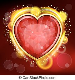 Valentines Day background with heart - Valentines Day...