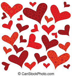 Valentine's Day background with hearts, wrapping paper