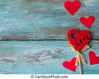 Valentines Day background with hearts. Free space for text