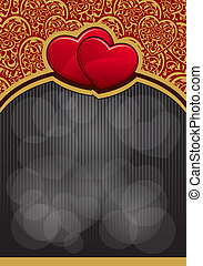 Valentine`s Day background with hearts - Valentine`s Day ...