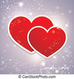 Valentine`s Day background with hearts. holiday background