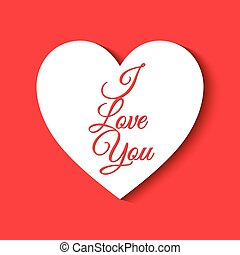 Valentine's Day background with I love you text