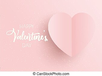 Valentine's Day background with pink heart
