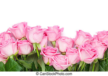 Valentines day background with pink roses