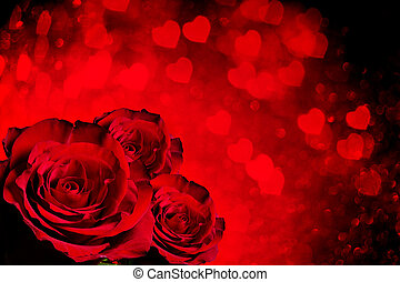 Valentines day background with roses