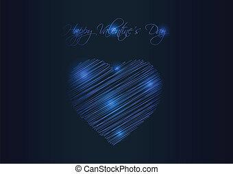 Valentine's day background with special plasma design