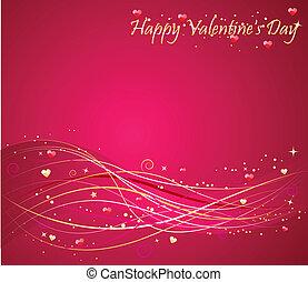 Valentine\'s day background with wav