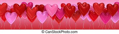 Valentine's day balloon hearts