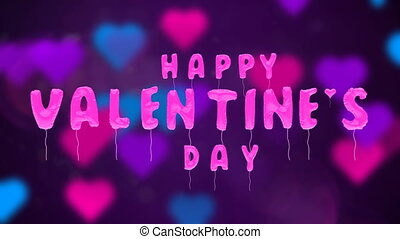 Valentine's day balloons on abstract background