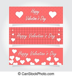 valentines day banner. 14 february. vector design...