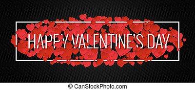Valentines Day Banner Design Background.