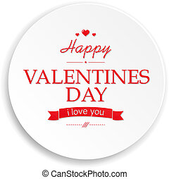 Valentines Day Banner - Red Heart Valentines Day, With...