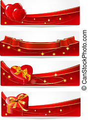 Valentine`s day banners.