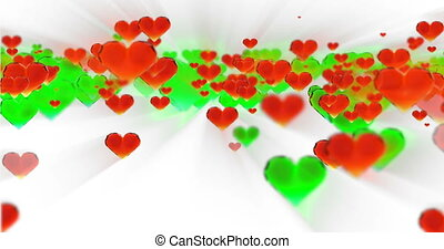 Valentine's day birthday abstract background,flying chopped...