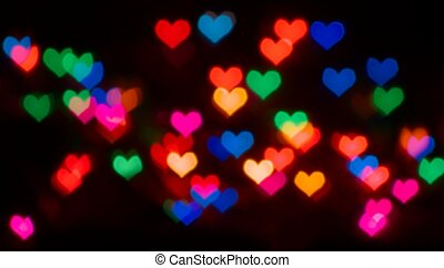 Valentine's Day blur background with heart bokeh
