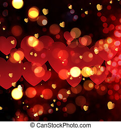 Valentine's Day bokeh lights background