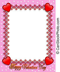 Valentines Day Border Hearts