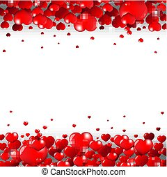 Valentines Day Border Isolated White Background