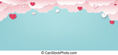 Valentines Day Border With Hearts