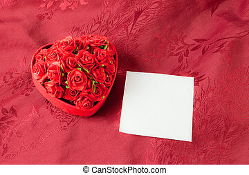 Valentine's day box rose