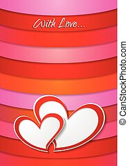 Valentines Day bright abstract background