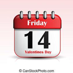 Valentines Day Calendar icon