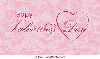 Valentines Day calligraphy design, vector text