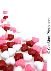 Valentines Day candy border - Valentines Day background or...